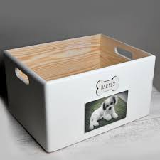 personalised wooden pet dog toy box