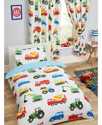 trucks and transport 4 in 1 toddler bedding bundle set duvet pillow and covers