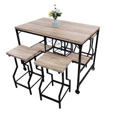 Amazoncom Luckyermore 5 Piece Counter Height Dining Table Set