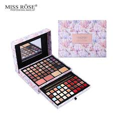 whole professional flower makeup cosmetic set gift for women eyeshadow lipstick concealer blush mirror kits make up brand miss rose makeup sets