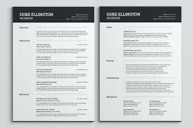 Resume Template Pages Adorable Two Pages Classic Resume Template Cv Tangledbeard