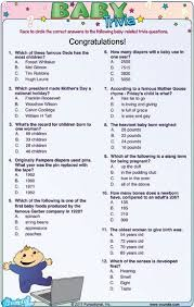 Cool Funny Baby Shower Trivia Questions 13 For Your Baby Shower Famous Mothers Baby Shower Game