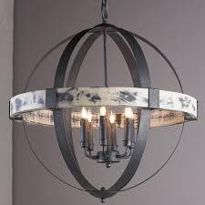 wrought iron orb chandelier otbsiu foucaults crystal medium s lighting