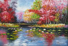 2018 oil painting landscape abstract large size summer splendor high quality 100 handmade from kixhome 110 56 dhgate com