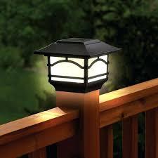 deck post light solar copper caps outdoor lighting led fence lights 4x4 home depot