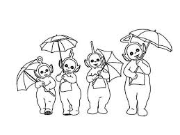 Small Picture The Teletubbies and Their Umbrella Coloring Page Color Luna