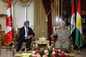 اربيل - وزير دفاع كندا يجري محادثات مع بارزاني بشأن حرب