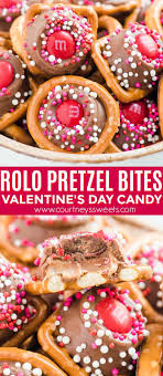rolo pretzels bites recipe valentine s day candy edible gift