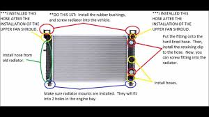 Chevy Silverado Radiator Installation 4.8 Liter - YouTube