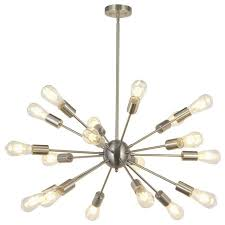 modern sputnik chandelier lighting 18 lights brushed nickel industrial chandeliers by lightingworld