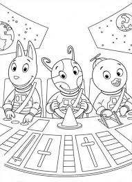 Small Picture Printable Backyardigans Coloring Pages Coloring Me