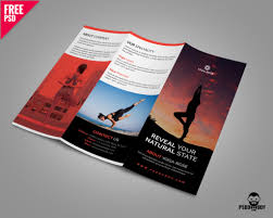 Brochure Trifold Template Free Yoga Trifold Brochure Template Free Psd Pixelsdesign Net