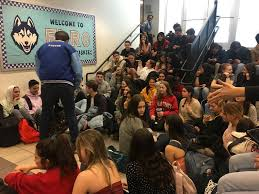 students se sit in after disrupts elite public high in manhattan