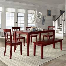 wilmington ii 60 inch rectangular antique berry red dining set by inspire q clic