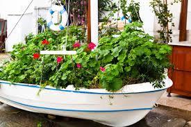 flower boat planter
