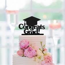Diy Graduation Party Favors Lovely Congrats Grad Cake Topper