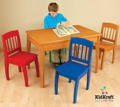 wooden table and 4 chairs for kids