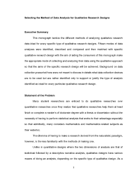 Qualitative Research Design Types With Examples Inf Qualitative Research Methods For Phd Candidates