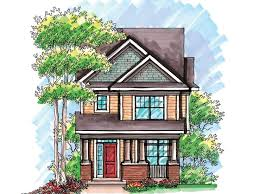 Plan H    Find Unique House Plans  Home Plans and Floor    Narrow Lot House Plan  H