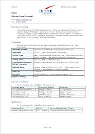 Manual Testing Resume Sample Best Of Sample Resume Of Manual Tester Francistan Template