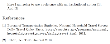 Bibtex Formatting Of Institution As Author With Natbib And