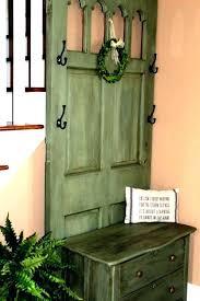 Old Door Coat Rack And Bench Gorgeous Old Door Bench Old Door Bench Artistic Old Door Entry Bench Using