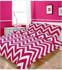 double bed zig zag line duvet cover bedding set hot pink poly cotton bed set