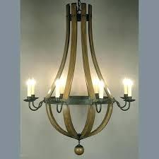 decoration wine barrel chandelier c stave for home depot
