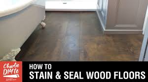 how to stain and seal a wood floor