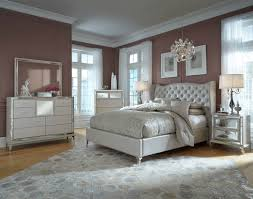 hollywood swank bedroom set. Simple Hollywood AICO Hollywood Loft Frost Upholstered Platform Bedroom Set Intended Swank A