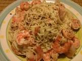 angel hair pasta with garlic shrimp