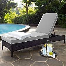 gray and brown wicker patio chaise