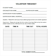 Free Log Of Hours Template Internship Vehicle Service Form On ...