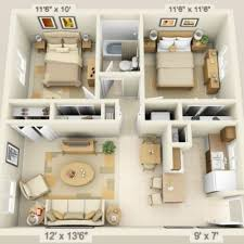 Pin by Ivan Hudson on maison in 2020 | One bedroom house, Small house  design, One bedroom house plans
