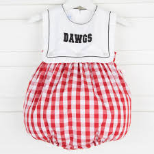 Smocked Auctions Size Chart Embroidered Dawgs Bubble Red Check