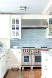 light blue white kitchen cabinets with glazed subway tiles backsplash glass ideas tile