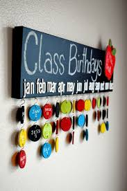 Teacher Gift Chalkboard Class Birthday Calendar 30 Name