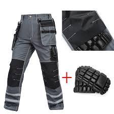 Pants In Work Qveralls Men Working Pants Multi Pockets Wear Resistant Worker Mechanic Cargo Pants Work Wear Trousers Machine Repair Pants In Safety Clothing
