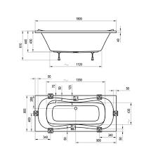 <b>Акриловая</b> прямоугольная <b>ванна</b> Ravak <b>Campanula II</b> 180x80 см ...