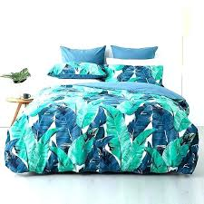 palm leaf quilt tropical print bed sheets leaf quilt cover set target themed duvet covers tropical