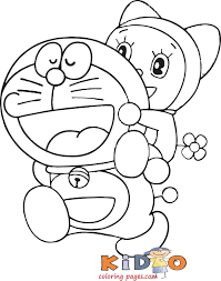 This cartoon character shows a great habit and behavior. Doraemon Coloring Pages Cartoon Kids Coloring Pages