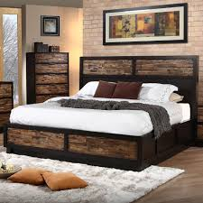 New Classic Bedroom Furniture Makeeda King Storage Bed In Brown By New Classic Home Gallery Stores
