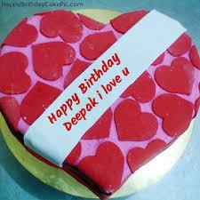 Happy Birthday Cake For Lover For Deepak I Love U