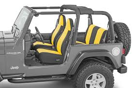 all things jeep coverking neoprene rear seat covers for