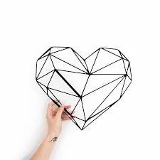 on home is where the heart is metal wall art with metal wall art geometric heart home decor polygonal scandi