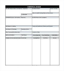 ups commercial invoice template commercial invoice template excel ups commercial invoice template