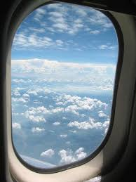 airplane window. Beautiful Window Looking Out The Airplane Window And Thinking Of Clouds As Cotton Candy With Airplane Window