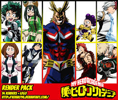 RENDER PACK - My Hero Academia by Athias95 on DeviantArt