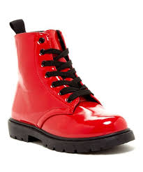 Coco Jumbo Shoes Size Chart Coco Jumbo Red Patent Combat Boot Girls