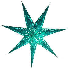 Foldable Advent Starlight Paper Star Christmas Star Devi Turquoise 60x60x20 Cm ø60 Cm